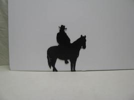 Horse Rider 005 Western Metal Wall Yard Art Sil... - $65.00