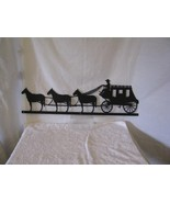 Stagecoach Horses Metal Western Wall Yard Barn Art Silhouette - $90.00