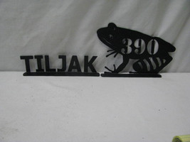 Frog Mailbox Topper with Name Metal Yard Silhouette - $52.00