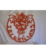 Customized Dragon 002 Metal Wall Art Silhouette - $210.00