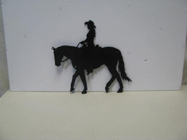 Cowgirl Horse 001 Western Metal Wall Art Silhouette - $65.00