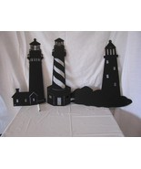 Lighthouse  Metal Wall Art Silhouette Set of Three - $90.00