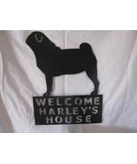 Pug Welcome Metal Silhouette Dog Wall Art - $54.00
