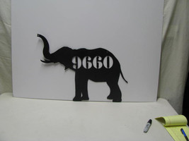 Elephant 17 Metal Animal Wall Yard Lawn Art Silhouette with Numbers - $62.00