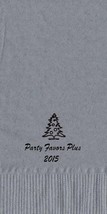 50 Personalized Christmas Tree  Towel Fold Napkins  - $14.95+