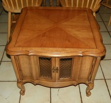 Pecan End Table / Side Table with Storage  (BH-T427) - $296.01