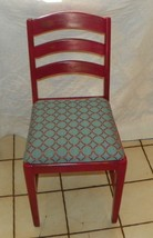 Red Painted Desk Chair / Sidechair  (SC157) - $167.31