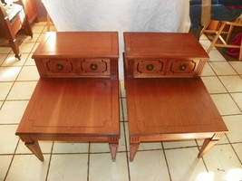 Pair of Cherry Mersman Step End Tables Side Tables  (BM-T96) - $494.01