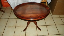 Oval Solid Walnut Carved Coffee Table with Serving Tray  (BM) (CT48) - $494.01