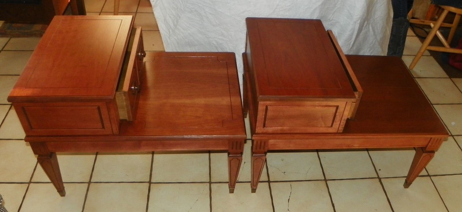 Pair of Cherry Mersman Step End Tables Side and 50 similar items