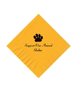 50 PERSONALIZED Paw printed BEVERAGE cocktail NAPKINS - $9.95+