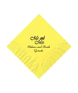 50 PERSONALIZED Mr. and Mrs. printed BEVERAGE cocktail NAPKINS - $9.95+