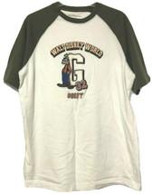 Walt Disney World White Green Embroidered Goofy T Shirt Size Large - $11.78