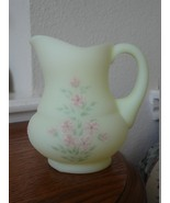 Fenton Pink Blossom on Custard Pitcher 1970's - $19.95