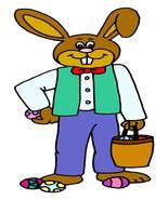 Easter Bunny08-Digital Download-ClipArt-ArtClip... - $3.00