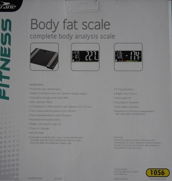 Body Fat Analysis Scale 64