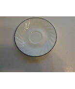 "Corelle Holiday Magic (2) Saucers 6"" White Swirled Green Trim EUC* - $4.99"
