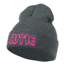 Wording of Cutie Embroidered Beanie W45S67D - $16.99