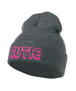 Wording of Cutie Embroidered Beanie W45S67D - £12.22 GBP