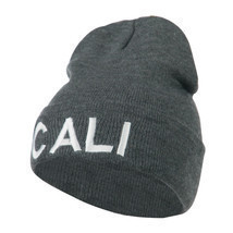 Wording of Cali Embroidered Beanie W45S70D - $16.99