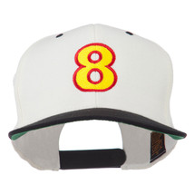 Arial Number 8 Embroidered Classic Two Tone Cap W44S69F - $24.49