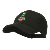 Christmas Tree with Decoration Embroidered Cap W45S61F - $20.49