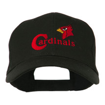 Cardinals with Bird Head Embroidered Cap W44S33D - $20.49