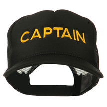 Youth Captain Embroidered Foam Mesh Back Cap W45S54F - $14.99