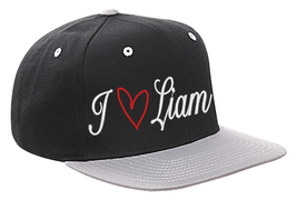 One Direction Hat I Love Liam Cap Black w/Silver Brim Snapback Hat,love ... - $22.95