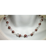 PEARL CLUSTER NECKLACE  +FREE EARRINGS ARTIS... - $38.99