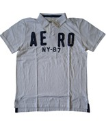 J021 New Men's Polo shirt AEROPOSTALE Size XL White - $10.95