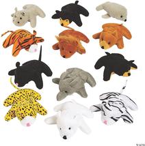 25 Pack Mini Zoo Plush Animal Set, Jungle Animal Plush Toys Great for Ju... - $39.41