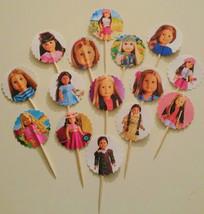 "15 ""AMERICAN GIRL DOLL"" inspired Cupcake Topper... - $7.00"
