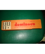 VINTAGE DOUBLE SIX DOMINOS ALL UREA PIECES WITH METAL SPIN SEALED NEW in... - $17.99