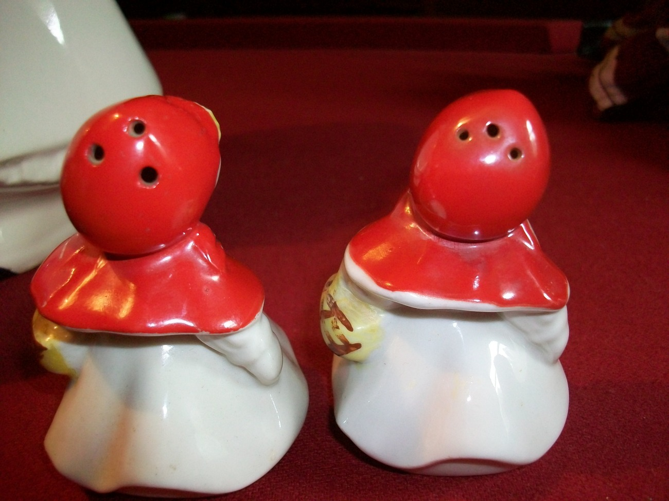 Vintage Little Red Riding Hood Salt and Pepper Shakers 3 1/4 inch