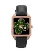 Customised Rose Gold Leather Watch - $45.90
