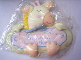 "Door Hanger, Giraffe Design, ""Sh-h-h Baby Sleeping,"" By Rosalina,Yellow,... - $12.99"