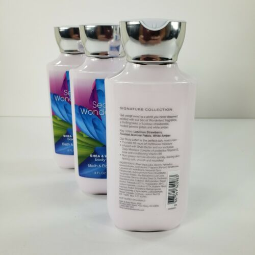 Lot of 3 Secret Wonderland Body Lotion Bath Body Works Shea Vitamin E Full Size