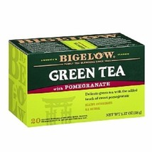 Bigelow Pomegranate Green Tea 20 Tea Bag Box - $8.86