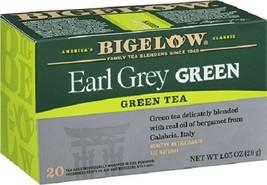 Bigelow Earl Grey Green Tea 20 Tea Bag Box - $8.86