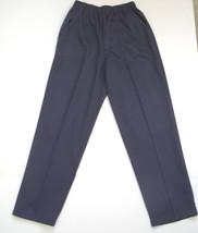 Blair Navy Blue Stretch Waist Pants size (Women's) 10P Polyester blend I... - $10.18