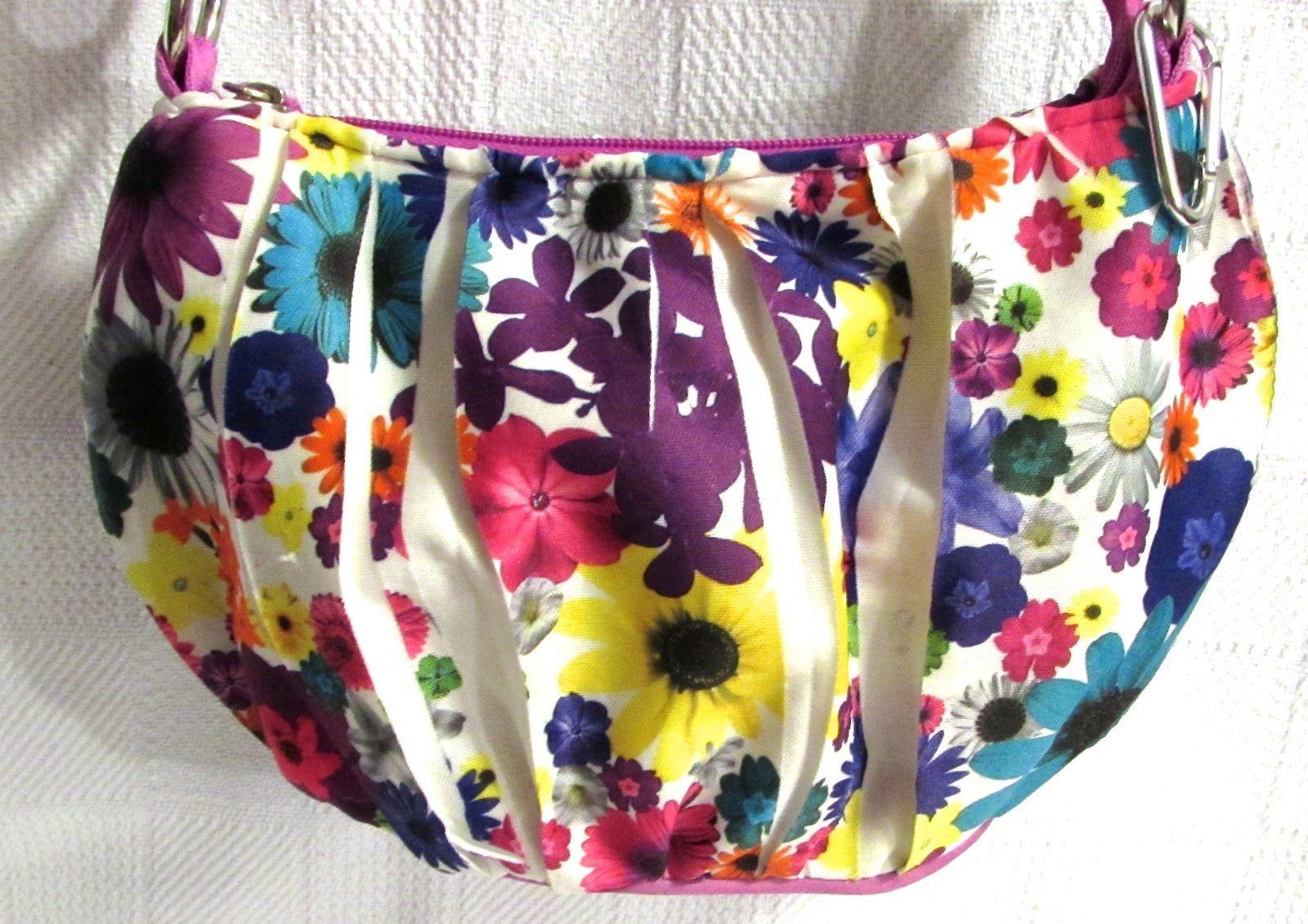 Justice Girls Floral Print Multi-Color Tote Shoulder Bag Polyester
