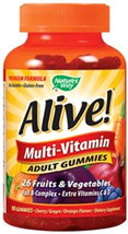Natures Way Alive Adult Multi-Vitamins Gummy 90... - $9.85