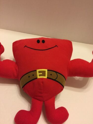 """Fisher Price Talking Mr Muscle Red Exerciser Plush Toy Talks 9"""""""