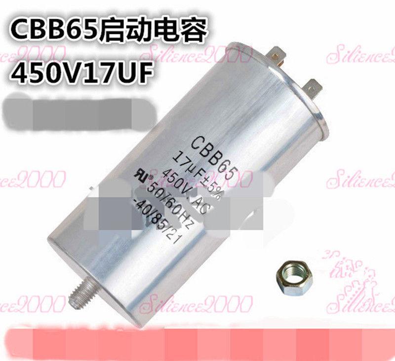 CBB60 50uf 450V Motor Running Capacitor W// Screw Nut for Washing Machine