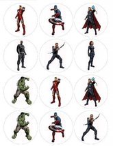 Single Source Party Supply - Avenger Cupcakes Edible Icing Image #1 [Gro... - €7,44 EUR