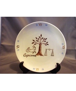 "Birthday Astrology Capricorn Star Sign Collectors 7 "" Plate Dish w/ Stand - $4.19"