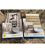 Lot of 2 Fragrance Oil Diffuser Plug in Live Love Woof & love the life y... - $19.79