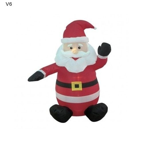 Inflatable santa claus 4 ft yard patio christmas decor for 4 ft santa claus decoration