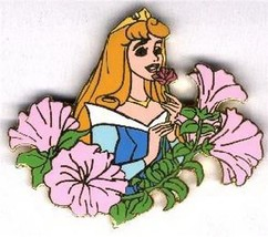 Disney  Sleeping Beauty with flowers  Authentic Original Card Auctions Pin - $48.37